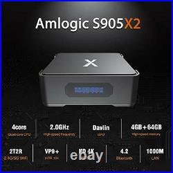 Android 8.1 TV Box A95X Max 4GB 64GB Amlogic S905X2 Quad-core 2.4G/5G Dual