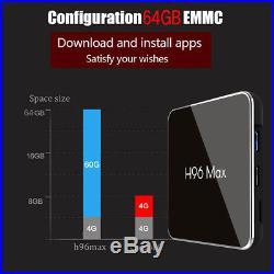 Android TV Box 8.1 4GB 64GB 4K Quad Core 5G WiFi Smart Media Player H96 Max X2