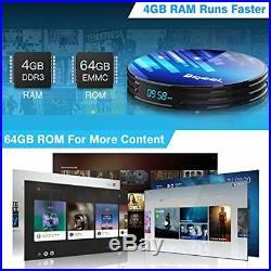 Android TV Box 9.0 4GB RAM 64GB ROM, Bqeel S905X3 Quad-Core 64bit Dual-WiFi 3D