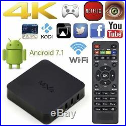 Android TV Box MXQ 7.1 s905W Quad Core eMMC 8Go WiFi Kodi Full 4K HD 1080P