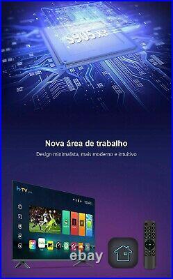Android TV Box h-TV H7 Brasil 4K WiFi 5G HTV 7 Brazil Android Box 2GB+16GB