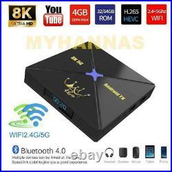 Arabic English Turkish Africa 5G WI-FI Android Sports TV BOX HD 4GB Ram 32GB Rom