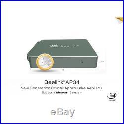 Beelink AP34 Mini PC Smart TV BOX Intel N3450 64bit Quad Core Win10 HD 4G+64G FL