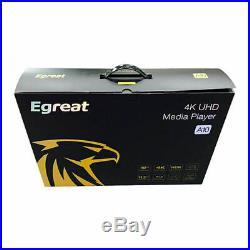 Egreat A10 TV BOX HDD Ultra-HD 4K HDR UHD+BD+DVD ISO FULL MENU Android Media Box