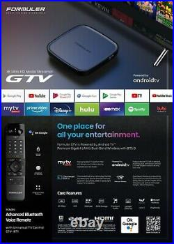 Formuler Gtv Android Tv 9.0 + Extra Wireless Keyboard + 3 in 1 Charger