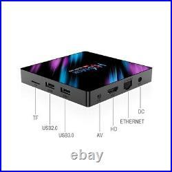 H96 MAX RK3318 Android 9 Smart TV Box 5G Wifi H. 265 4GB + 64GB, I8 Keyboard