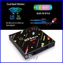 H96 Max 64GB/4GB 4K Quad Core Android 7.1 Dual Wifi Bluetooth 1080p 4K 3D TV Box