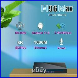 H96 Max Android 11 8GB/64GB RK3566+ Voice Control 5G Wi-Fi TV Box USA SELLER