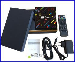 H96 Max-H2 4K TV Box Adroid7.1 Quad-Core Dual WIFI BT RK3328 USB3.0 4GB 32GB