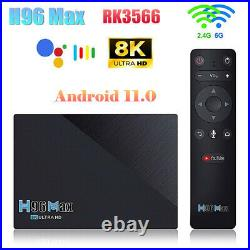H96 Max RK3566 Android 11.0 Smart TV Box 8G 64G Dual Wifi 4K H. 265 Media player