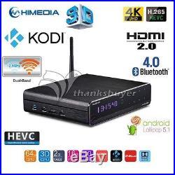 HiMedia Q10 PRO Android UHD Media Player Quad-Core 4K TV BOX HEVC H. 265+Remote