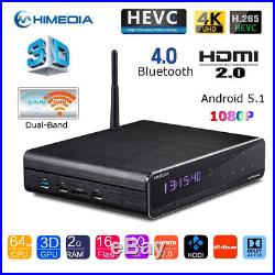 HiMedia Q10 PRO TV BOX Quad-Core 3D 4K Android 5.1 UHD Media Player 16GB WiFi