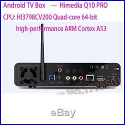 HiMedia Q10 PRO TV BOX Quad-Core 4K 10bits HEVC H. 265 Android UHD Media Player