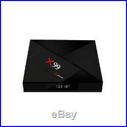 Hot X99 TV Box Android 7.1 Bluetooth 4GB+64GB Smart Box 2.4G/5G Dual WIFI 4K 3D