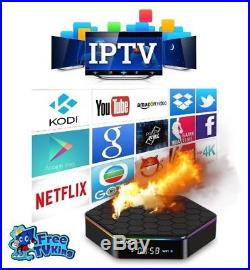 HotBox Pro Quad Core Android TV Box with 1 Year of Live IPTV Cable Television