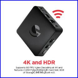 Jetstream 4K Ultra HD Android TV Box with Voice Search Remote (AGT418) NEW