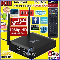 K3 KIII Arabic 64Bit Android HD TV Box 2G/16G WiFi 4 Year Manufacture Warranty