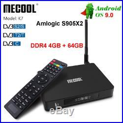 K7 Smart TV Box Android 9.0 S905X2 4G+64GB Quad Core 64 Bit WIFI BT Media Q5I9