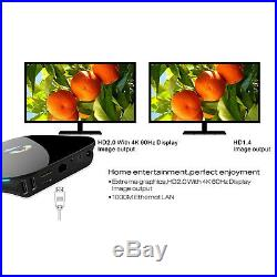 KODI 16.1 Media Player Q TV BOX Smart Quad Core 2+16G 4K Android 6.0+ Keyboard