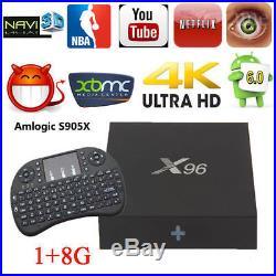 LOT 10 X96 Newest 2+16GB Android 6.0 Smart 4K TV BOX S905X Quad core+Keyboard MC