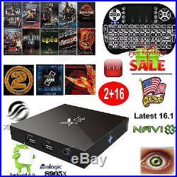 LOT 10 X96 Newest 2+16GB Android 6.0 Smart 4K TV BOX S905X Quad core+Keyboard Y