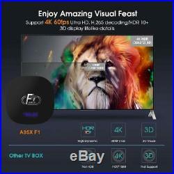 LOT 10PCS A95X F1 Android 8.1 TV Box Amlogic S905W Quad Core 2G+ 16GB WiFi 100M