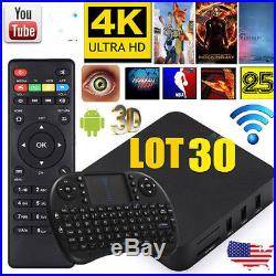 LOT 30 Android4.4 Smart TV Box Quad Core 8GB Fully Loaded Wifi Media Player OUY