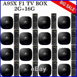 LOT A95X F1 Android 8.1 TV Box S905W Quad Core 2.4G WiFi 2G/16G Media Player US