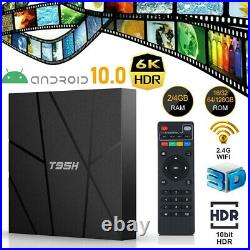 LOT T95H 6K UHD Smart TV Box Android 10 4core 16/32/64GB HDR10 Media Player Q4U0