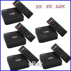 LOT V88 4K Smart Android 6.0 TV Box RK3229 8G Quad-Core 1080P WiFi H. 265 O7J6
