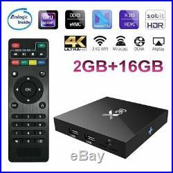LOT X96 S905W 2+16G Android 6.0 Nougat 4K Quad Core Smart TV BOX WIFI HDMI