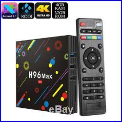 Latest 2018 H96 Max Cortex Smart Android Ultra Tv Box Media Player 4K HD 4GB RAM