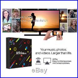 Latest Version Android Smart TV Box H96 MAX HD 4K Quad-Core 4GB+32GB