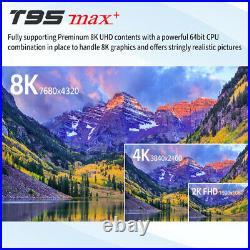 Lot 10 T95 MAX+ S905-X3 8K HDR 4GB DDR3 Android 9.0 Dual WiFi Bluetooth TV Box