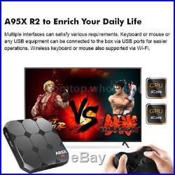 Lot 10x A95X R2 Android 7.1 TV BOX S905W Quad Core 2G+16G 2.4G WiFi 4K 3D Media