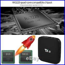 Lot 10x TX2 Smart Media Player RK3229 Android 6.0 Quad Core TV BOX 3D 2/16G P9Q5