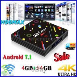 Lot H96 Max H2 Android7.1 Smart TV Box 4G/64G Wifi Quad-Core 4K H. 265 Media D6W1
