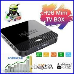 Lot Of 5 H96 Mini H8 2GB 16GB Android 9.0 OTT TV Box RK3228A Quad Core Dual WiFi