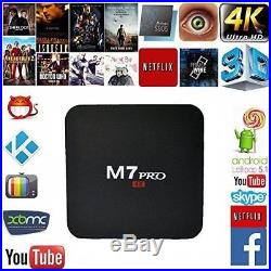 M7 PRO 4K TV Box Android 5.1 Amlogic S905 Quad Core Smart Tv Box LOT OF 5 NEW