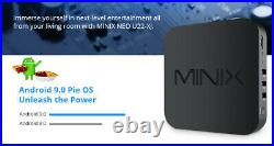 MINIX NEO U22-XJ TV BOX S922X-J Android 9.0 4/32GB Smart TV Box 4K UHD Media Hub