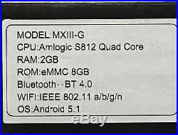 MX III-G Android 5.1 Smart TV Box 2G KODI Quad Core 4K 8GB MiracastI HDTV