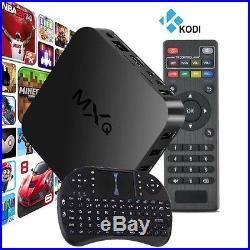 MXQ 8GB Fully Loaded 1080P Android 4.4 Quad-Core WiFi KODI Smart TV Box+Keyboard