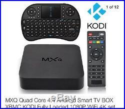 MXQ Quad Core 4.4 Android Smart TV BOX XBMC KODI Fully Loaded 1080P WiFi 4K set