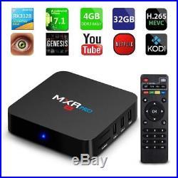 MXR PRO TV Box 4K HD RK3328 Quad-core Android 7.1 DDR3 4G+32G WIFI Google Play