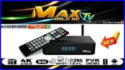 Max Tv Gold 5g 4k Ultra-hd Iptv Box+android 7.1 Quad-core 64 Bit