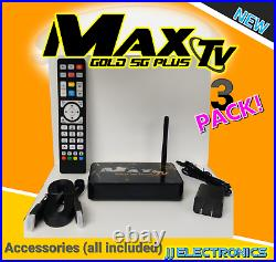 Max Tv Gold 5g Plus 4k Ultra-hd Box+android 9.1 New 3pack 3-pack