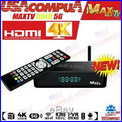 Maxtv Gold Max Tv 5g 4k Ultra-hd Iptv Box+android 7.1 Quad-core 64 Bits 2gb/ 8gb