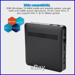 Mini PC Atom Z8350 Quad Core Media Player TV Box 2G+32G For Android Windows 10
