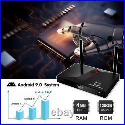 MonsterBox X1 Max 4GB Ram 128GB Free Keyboard! , 6K Android TV Dual-Band Wi-Fi