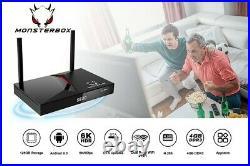 MonsterBox X1 Max 4GB Ram 128GB Media Player, 6K Android TV Dual-Band Wi-Fi